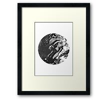 ink black and white Framed Print