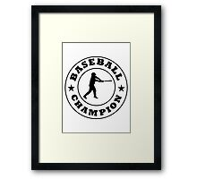 Baseball Champion Framed Print