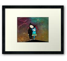 Cat Art by Angieclementine - babycat art Framed Print