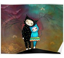 Cat Art by Angieclementine - babycat art Poster
