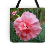 The Rain Soaked Carnation Tote Bag