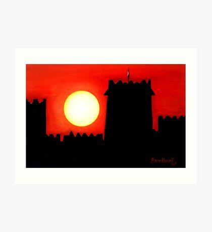 Sun Set UAE Art Print