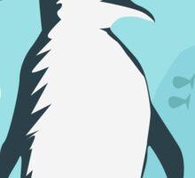 Penguin Vacation Sticker