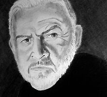 Sir Connery's Portrait by Anne Guimond