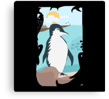 Penguin Vacation Canvas Print