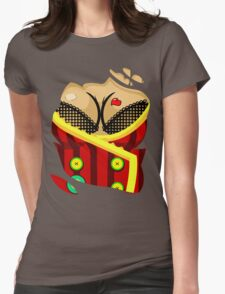 Moxxi - Red Womens Fitted T-Shirt