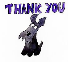 Scottie Dog Thank you by archyscottie