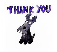 Scottie Dog Thank you Photographic Print