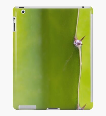 Fresh green Cactus Macro - Yellow / Green iPad Case/Skin