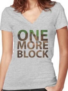 One More Block Women's Fitted V-Neck T-Shirt