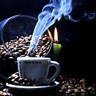 A cup of smoking hot coffee. by Dipali S