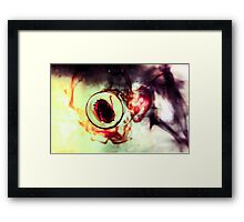 Solitary Bubble Framed Print