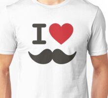 I love moustache/mustache Unisex T-Shirt