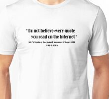 Churchill miss quoted 11 Unisex T-Shirt