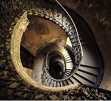 Abandoned spiral staircase by JBlaminsky