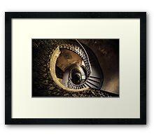 Abandoned spiral staircase Framed Print