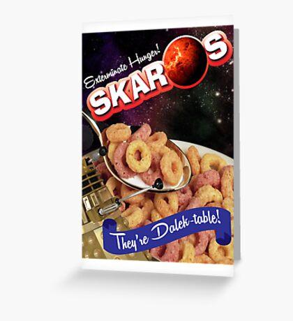 Dalek Breakfast Greeting Card