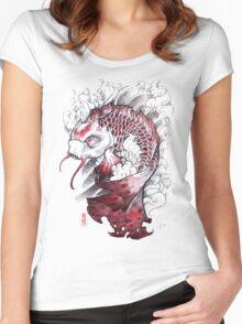 shigeki.zumi: tattoo sketchbook: 008 Women's Fitted Scoop T-Shirt