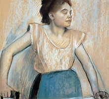 Woman Ironing by Bridgeman Art Library