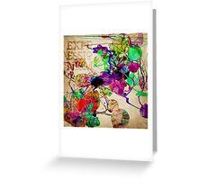 Abstract Mixed Media Greeting Card