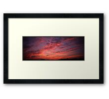 Red sunset clouds panorama Framed Print