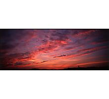 Red sunset clouds panorama Photographic Print
