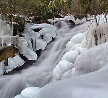 Upper Falls Ice Flow  by Tim Holmes