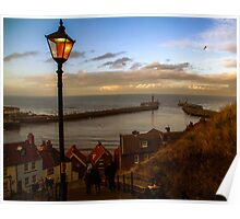Abbey Steps, Whitby, Yorkshire, UK Poster