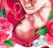 Watercolor fetus inside the womb Sticker