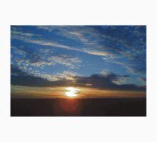 Larravide Blue Orange Sunset One Piece - Short Sleeve