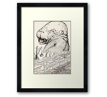 The Animal that came out of the sea and ate up all the food that Suleiman-bin-Daoud had made ready for all the animals in all the world Framed Print