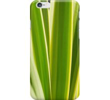 Nature Pattern, Palm leafs - Green, yellow stripes Design iPhone Case/Skin