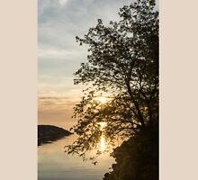 Lakeside Golds and Greens - Brilliant, Beautiful Sunrise on the Lake Unisex T-Shirt