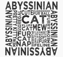 Abyssinian Cat Typography Kids Clothes
