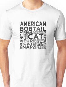 American Bobtail Cat Typography Unisex T-Shirt