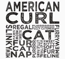American Curl Cat Typography Kids Clothes
