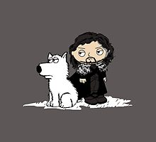 Stewie Griffin Jon Snow game of thrones iPad by EdWoody