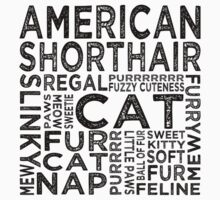 American Shorthair Cat Typography Kids Clothes