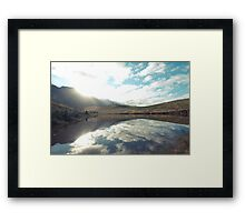 Sunny afternoon at a lake Framed Print