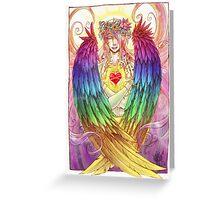 Colorful Angel Greeting Card