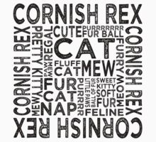 Cornish Rex Cat Typography Kids Clothes