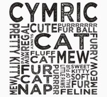 Cymric Cat Typography Kids Clothes