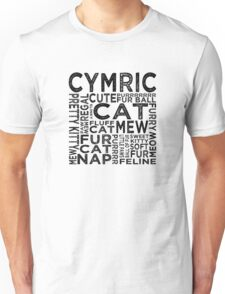 Cymric Cat Typography Unisex T-Shirt