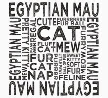 Egyptian Mau Cat Typography by Wordy Type