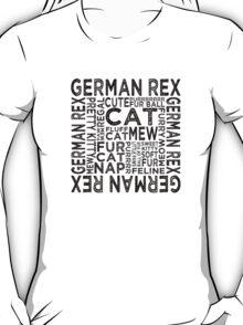 German Rex Cat Typography T-Shirt