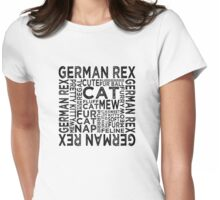 German Rex Cat Typography Womens Fitted T-Shirt