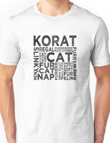 Korat Cat Typography Unisex T-Shirt