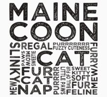 Maine Coon Cat Typography by Wordy Type