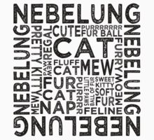 Nebelung Cat Typography Kids Clothes
