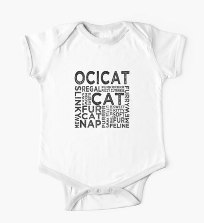 Ocicat Typography One Piece - Short Sleeve